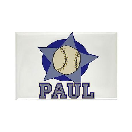 All Star Paul Customized Baseball Rectangle Magnet