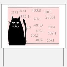 librarian cat blanket pink Yard Sign