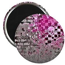 Punk You 7 Hearts Skull Magnet