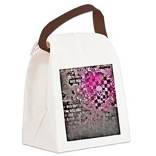 Punk You 7 Hearts Skull Canvas Lunch Bag