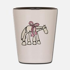Pink Bow Shot Glass