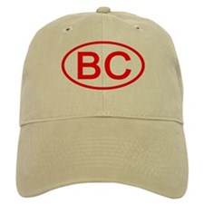BC Oval (Red) Baseball Baseball Cap