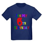 6th Birthday Kids Dark T-Shirt