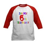 6th Birthday Kids Baseball Jersey