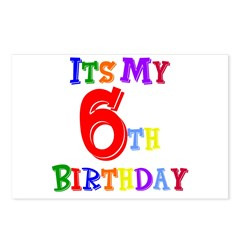 6th Birthday Postcards (Package of 8)