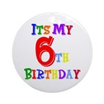 6th Birthday Ornament (Round)