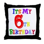 6th Birthday Throw Pillow