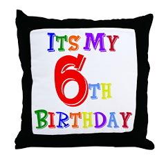 6th Birthday Throw Pillow