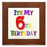 6th Birthday Framed Tile
