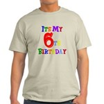 6th Birthday Light T-Shirt
