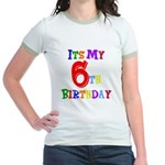 6th Birthday Jr. Ringer T-Shirt