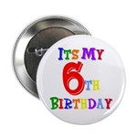 6th Birthday Button