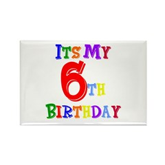 6th Birthday Rectangle Magnet
