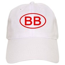 BB Oval (Red) Baseball Cap