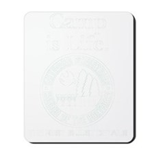 Camp is Life (White) Mousepad