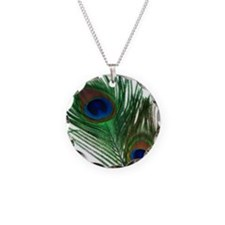 Romantic Peacock Feather Necklace