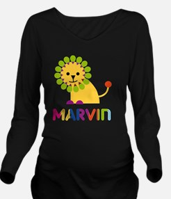 Marvin Loves Lions Long Sleeve Maternity T-Shirt