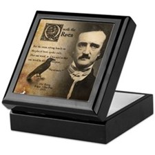 Edgar Allan Poe and Raven Nevermore Keepsake Box