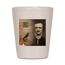 Edgar Allan Poe and Raven Nevermore Shot Glass