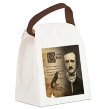 Edgar Allan Poe and Raven Nevermo Canvas Lunch Bag