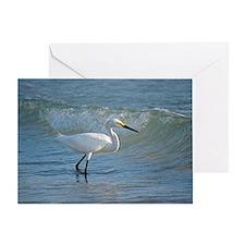 Snowy egret Greeting Card
