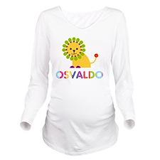 Osvaldo Loves Lions Long Sleeve Maternity T-Shirt