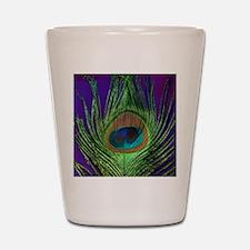 Purple Foil Peacock Shot Glass