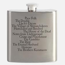 Dostoyevksy Book Titles Flask