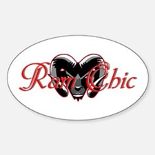 Ram Chic Sticker (Oval)