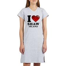 I Heart Shaw Island Women's Nightshirt