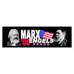 Marx/Engels 2008 Bumper Bumper Sticker