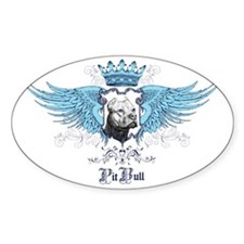 Pit Bull Dog Crest, Crown  Wings Decal