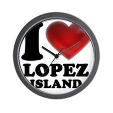 I Heart Lopez Island Wall Clock