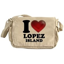 I Heart Lopez Island Messenger Bag
