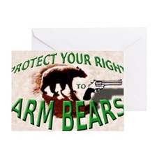 Right to Arm Bears Greeting Card