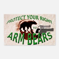 Right to Arm Bears 3'x5' Area Rug