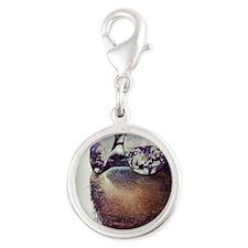 Sloths  Silver Round Charm