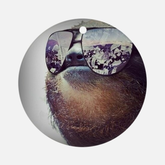 Sloths  Round Ornament