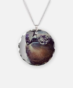 Sloths  Necklace Circle Charm