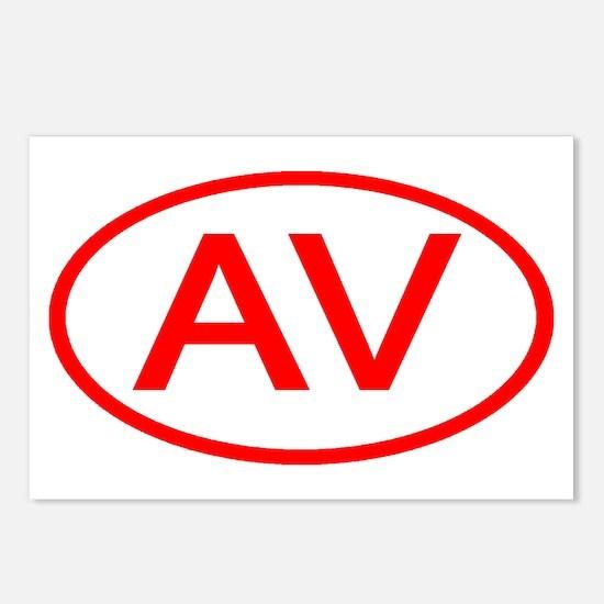 AV Oval (Red) Postcards (Package of 8)
