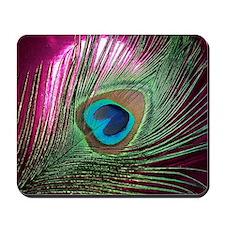 Magenta Peacock Mousepad