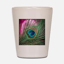 Magenta Peacock Shot Glass