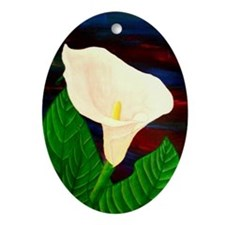 Calla Lilly Oval Ornament