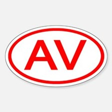 AV Oval (Red) Oval Decal