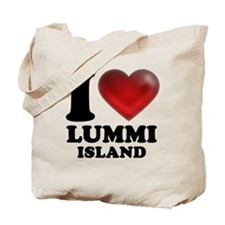 I Heart Lummi Island Tote Bag