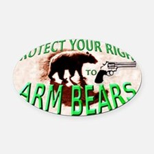 Right to Arm Bears Oval Car Magnet