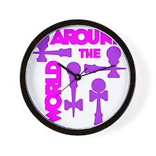purple2 ATW 7 Wall Clock