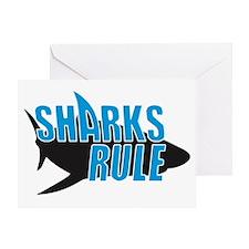 sharks rule BLACK SHIRT Greeting Card
