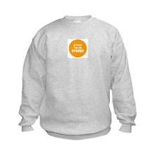 I'm an orange Kids Sweatshirt