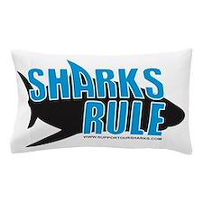sharks rule WHITE SHIRT Pillow Case